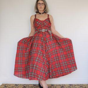 1978 punk era Karen Alexander tartan sundress