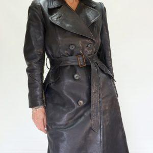1930's leather Dutch motorcycle coat
