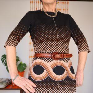 Rondene Black and brown dress